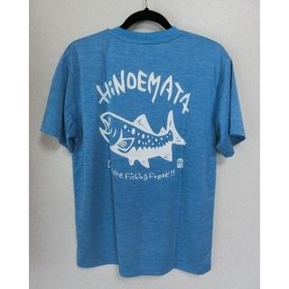 イワナTシャツ(ヘザーブルー)ドライ素材(Tシャツ/カットソー(半袖/袖なし))