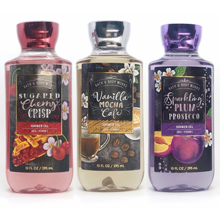 Bath & Body Works - BBW Cherry、Plum、Vanillaシャワージェル 3点セット