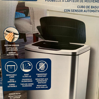 コストコ(コストコ)のコストコ センサー付きゴミ箱 シルバー 47L (ごみ箱)