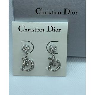 クリスチャンディオール(Christian Dior)の美品 クリスチャン ディオール Dロゴゆらゆらピアス/シルバー(ピアス)