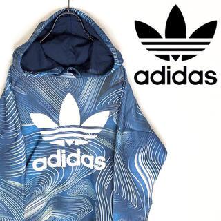 adidas - adidas アディダス パーカー マルチカラー 派手 デカロゴ スポーツMIX