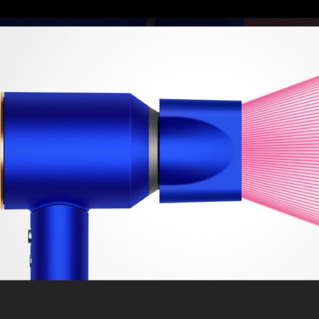 Dyson(ダイソン)のダイソンドライヤーブルー/ゴールドDyson Supersonic Ionic スマホ/家電/カメラの美容/健康(ドライヤー)の商品写真
