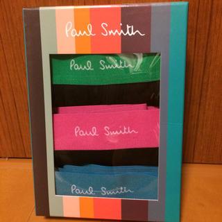 ポールスミス(Paul Smith)の新品  ポールスミス ボクサーパンツ Sサイズ 3枚 箱なし 未開封(ボクサーパンツ)