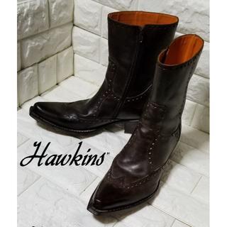 ホーキンス(HAWKINS)の✿HAWKINNS✿ ウェスタンブーツ(サイドジップ) size43 黒茶(ブーツ)