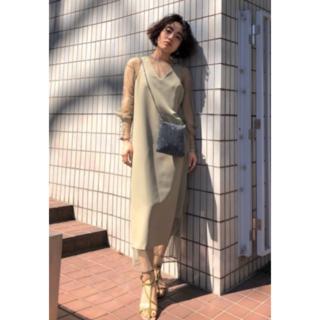 Ameri VINTAGE - Ameri TULLE DOCKING DRESS 20SS 完売品 セージ