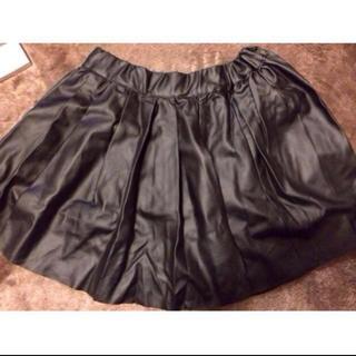 ロイヤルパーティー(ROYAL PARTY)のルーミーズ レザースカート(ひざ丈スカート)