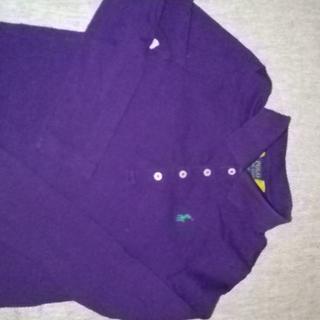 ポロラルフローレン(POLO RALPH LAUREN)のポロラルフローレンの紫パープル長袖ポロシャツ120 6サイズ(Tシャツ/カットソー)