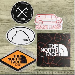 ザノースフェイス(THE NORTH FACE)のノースフェイス  防水ステッカー5点セット(スケートボード)