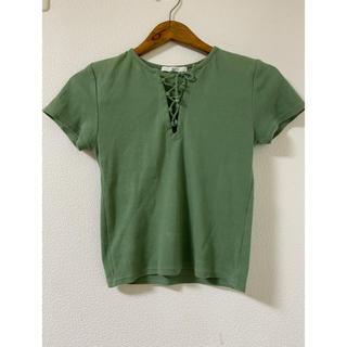 スライ(SLY)のSLY 編み上げトップス(Tシャツ(半袖/袖なし))