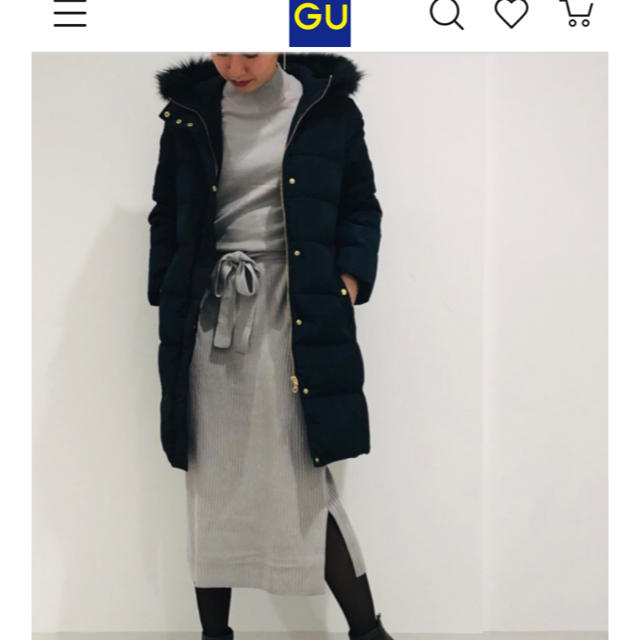 GU(ジーユー)のブラウジングニットワンピース グレー 長袖 GU ユニクロ H&M マタニティ レディースのワンピース(ひざ丈ワンピース)の商品写真