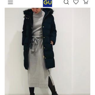 GU - ブラウジングニットワンピース グレー 長袖 GU ユニクロ H&M マタニティ