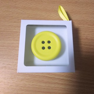 白鳳堂 - 【新品】ペチャット Pechat イエロー ボタン型スピーカー