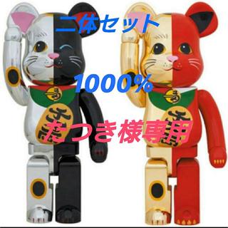 BE@RBRICK 1000% 招き猫 金×赤 銀×黒 ベアブリック(その他)