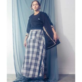 カプリシューレマージュ(CAPRICIEUX LE'MAGE)のチェックフレアスカート(ロングスカート)