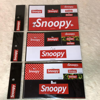 ピーナッツ(PEANUTS)の【新品未使用】スヌーピー ステッカー 3セット PEANUTS SNOOPY (キャラクターグッズ)