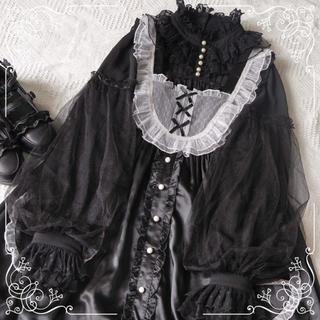Angelic Pretty - ゴシックロリータ やみかわ  聖十字 黒長袖シャツ