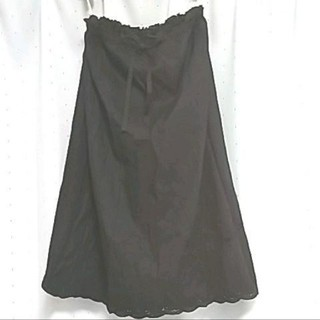 ピンクハウス(PINK HOUSE)の2228ピンクハウススカート 黒(ロングスカート)