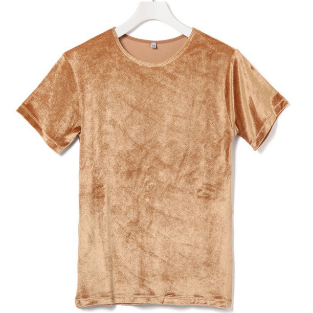 Adam et Rope'(アダムエロぺ)のAdam et Rope Baserange 別注 Omo Tee ベロア T レディースのトップス(Tシャツ(半袖/袖なし))の商品写真