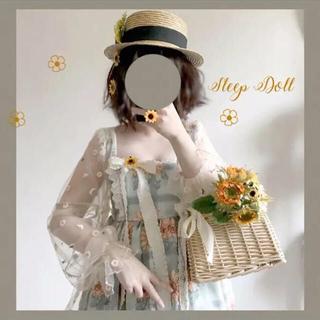 リズリサ(LIZ LISA)のロリータ ゆめかわ 菊 刺繍 アイボリートップスコート(その他)