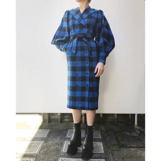 PAMEO POSE - PAMEO POSE‪ ✯‬ BUFFALO PLAID COAT-DRESS