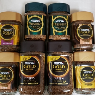 ネスレ(Nestle)のネスレ ネスカフェ プレジデント ゴールドブレンド 8本セット(コーヒー)