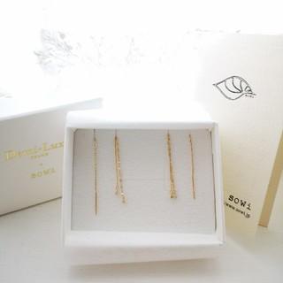 デミルクスビームス(Demi-Luxe BEAMS)の新品Demi-LuxeBEAMSsowiダイヤモンドピアスK10ゴールドビームス(ピアス)