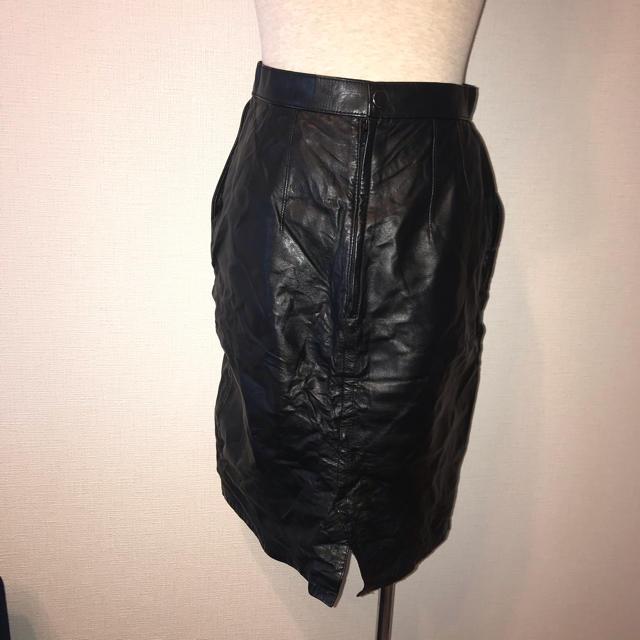 Lochie(ロキエ)のVintage レザー タイトスカート レディースのスカート(ひざ丈スカート)の商品写真