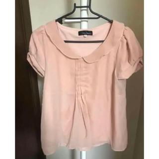 クリアインプレッション(CLEAR IMPRESSION)のクリアインプレッション 襟付きカットソー リボン(カットソー(半袖/袖なし))