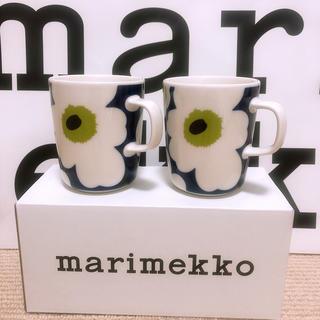 マリメッコ(marimekko)のマリメッコ フィンエアー限定 ウニッコ マグカップ 2個セット 未使用品(食器)