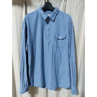 グローバルワーク(GLOBAL WORK)のGLOBAL WORK プルオーバーシャツ Lサイズ 薄青 カジュアル アメカジ(シャツ)