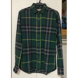 BURBERRY - バーバリーロンドン フランネルコットンシャツ M