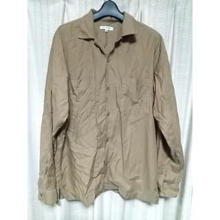 グローバルワーク(GLOBAL WORK)のGLOBALWORK オープンカラーシャツ Mサイズ 薄茶色 グローバルワーク(シャツ)