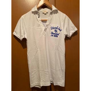 ディーゼル(DIESEL)のポロシャツ メンズ 白 細身 タイト(ポロシャツ)