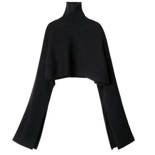 LE CIEL BLEU - 美品 LE CIEL BLEU Rib Cropped Knit  ブラック