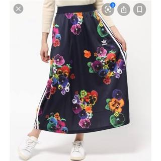 アディダス花柄ロングスカート