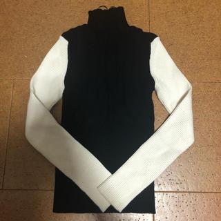 ZARA - ZARA バイカラー ブロック セーター