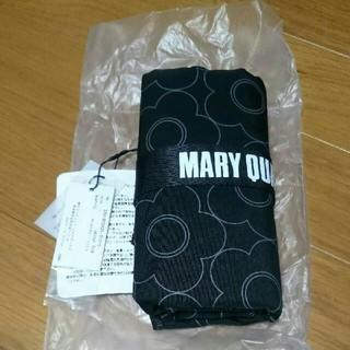 MARY QUANT - マリークワント シャドープリント ポータブルバッグ(ブラック)