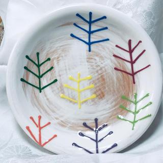 フェリシモ(FELISSIMO)の手描き皿2枚組 フェリシモ(食器)