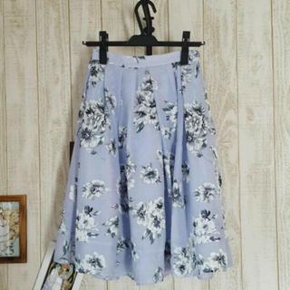 マーキュリーデュオ(MERCURYDUO)の花柄スカート(ひざ丈スカート)