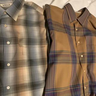 1LDK SELECT - AURALEE 19aw20awチェックシャツセット
