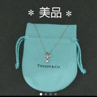 Tiffany & Co. - *正規品*美品*ティファニー ペレッティクロスネックレス☆保存袋き!