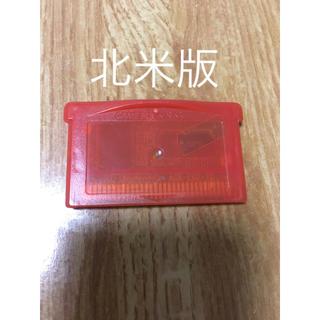 ゲームボーイアドバンス(ゲームボーイアドバンス)の北米版 未使用オーロラチケットあり ファイアレッド ポケモン(携帯用ゲームソフト)