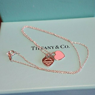 Tiffany & Co. - ティファニー ミニリターントゥダブルハートネックレス