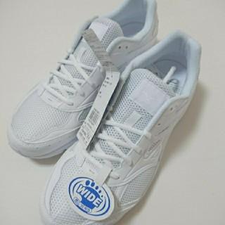 ミズノ(MIZUNO)の新品 ミズノ 白 通学靴 27.5 ランニングシューズ スニーカー (シューズ)