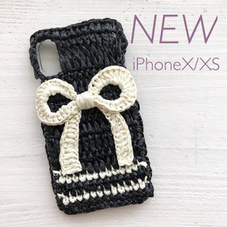 【新品】iPhoneケース 麦わらリボン black(iPhoneケース)