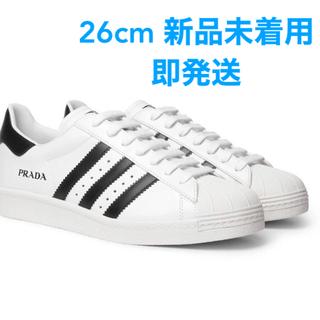 プラダ(PRADA)の【26cm 新品未着用 即発送】prada x adidas superstar(スニーカー)