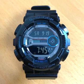 カシオ(CASIO)の【美品】CASIO G-SHOCK GD-110 ブラック反転液晶 稼働中(腕時計(デジタル))