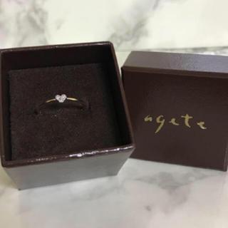 最終価格!リング★arpege 7号 k10 ダイヤモンド ピンキー 華奢(リング(指輪))
