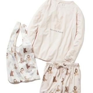 gelato pique - チャリティーぬいぐるみロングスリーブTシャツ&ショートパンツ&エコバッグSET