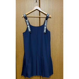 ウィゴー(WEGO)のテニススカート風ワンピース(韓国ファッション)(ひざ丈ワンピース)